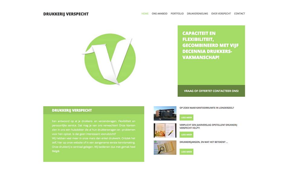 Concept, uitwerking en teksten nieuwe website drukkerij Verspecht