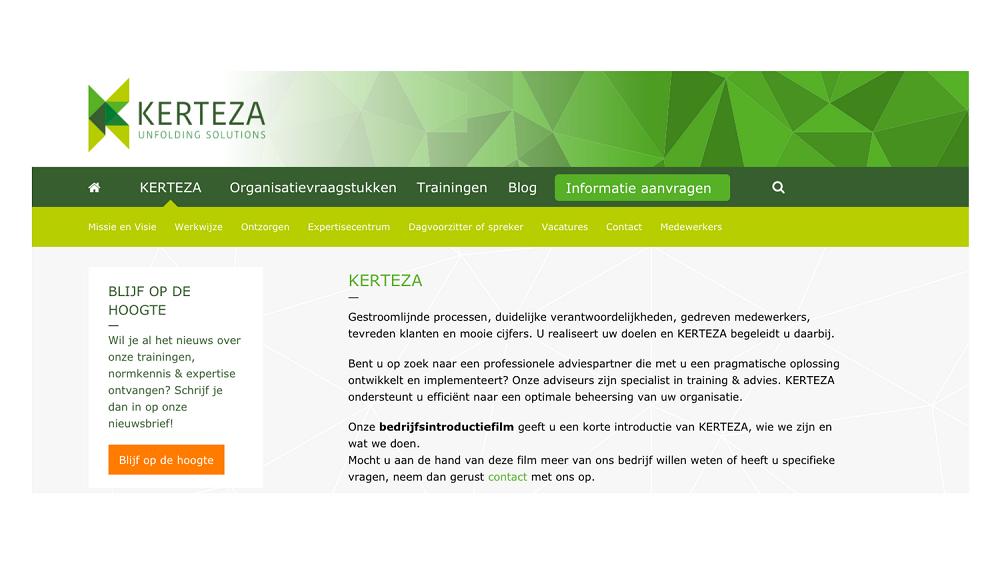 Marketingplan en teksten nieuwe website KERTEZA