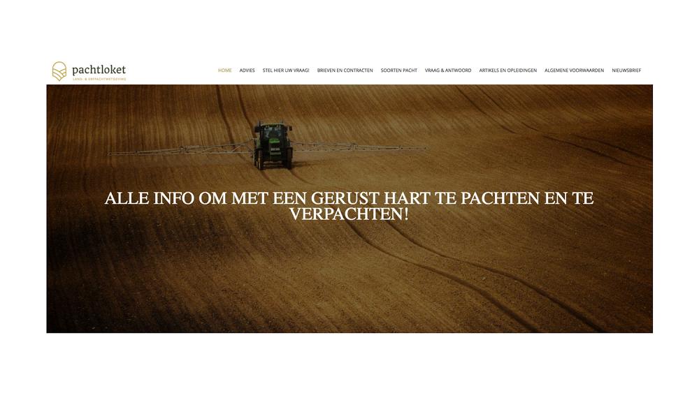 Marketingstrategie, marketingplan en nieuwe website Pachtloket